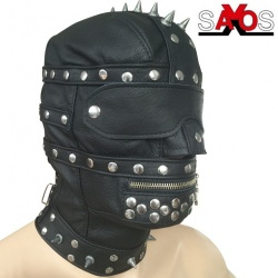 Fullhood with collar and spikes - os-0415