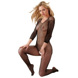 Catsuit Black with open crotch - or-02306180000