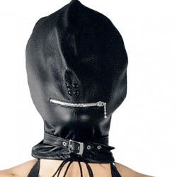 Leather Ladies Mask 938 - le-938-blk