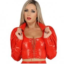 Lak blouse met vetersluiting maat EU 36 - Le-1051