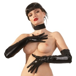 Latex Gloves black sizes S > XL - Or-2900149-BLK