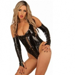 Tempting Black PVC Body #1066 - le-1066