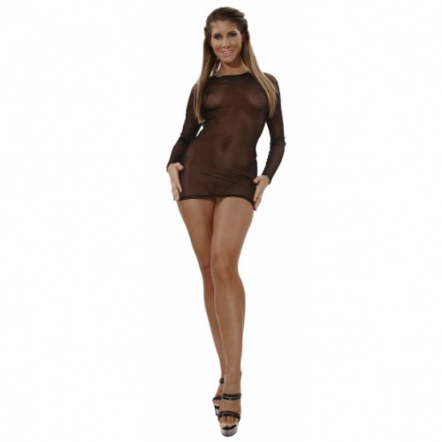 Black Mesh dress  size UK 6 - EU 34 - Le-1098