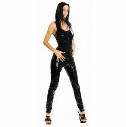 Black PVC Catsuit - le-1174-blk