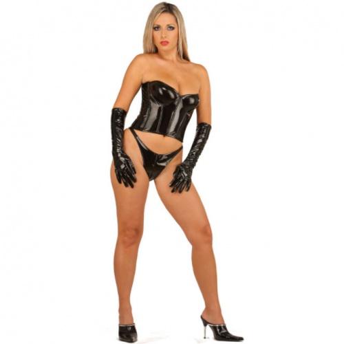 Black PVC Corsage 1245 - le-1245