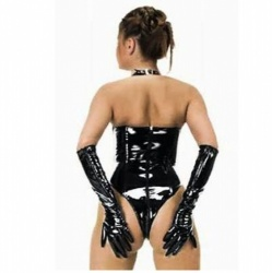 Black PVC Gloves 1285 - le-1285