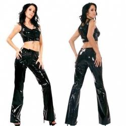 Black Vinyl Pants 1546 - le-1546