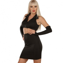 Zwarte Stretch Rok 3017 - le-3017-blk