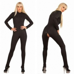 Zwarte Stretch Catsuit 3109 - le-3109