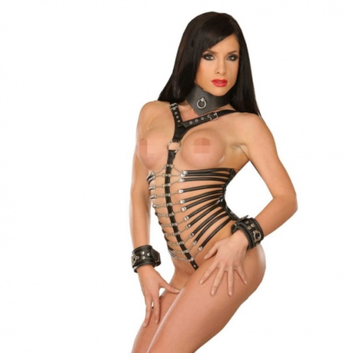 SM Leather Harnes Body 5066 - le-5066