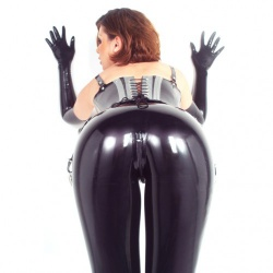 Latex Rits Leggings van Latexa - la-1148-08