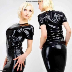 Long Latex T-Shirt - la-1187
