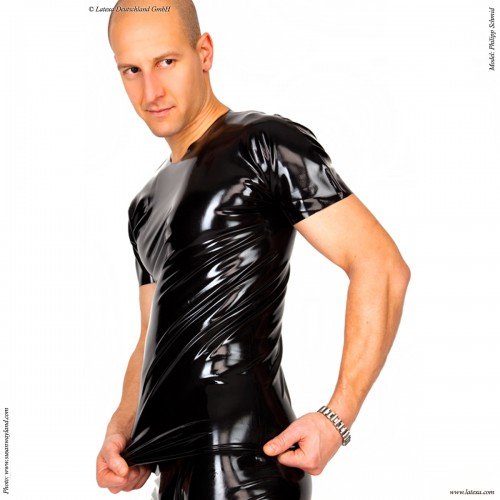 Langes Latex T Shirt von Latexa - la-1187