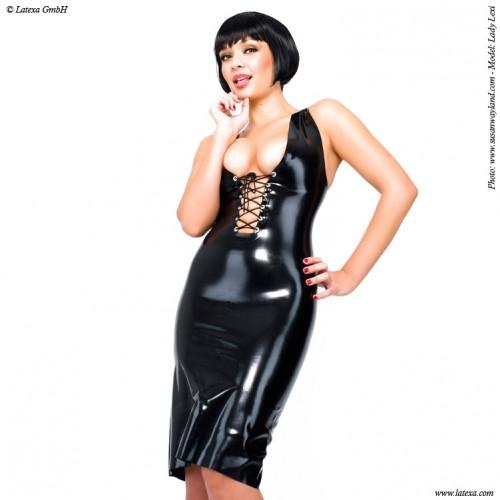Latex Kleid mit Schnürungvon Latexa - la-1207