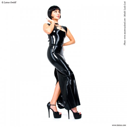 Lange latex jurk van Latexa - la-3041
