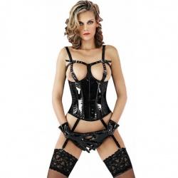 Lak corselet met jarretellenbandjes 1627 - le-1627