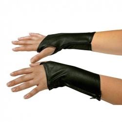 Black Leather Gloves 5266 - Le-5266-BLK