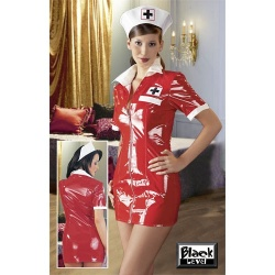 Lak verpleegster Jurkje maten S > XL - or-0241750
