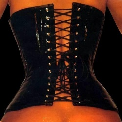 PVC corset fetish black - ET-EC001-PVC