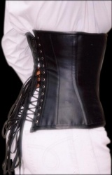 leather optic black underbust Corset - et-ec002-lei