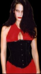 Half bust corset - velvet - ET-EC005-samt
