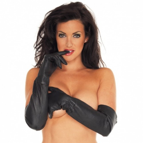 Long Leather Gloves - ri-7235