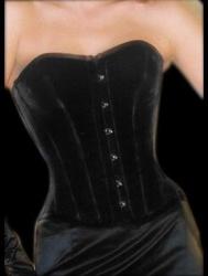 Nobles Black Velvet Corset - ET-EC007-SA/BL