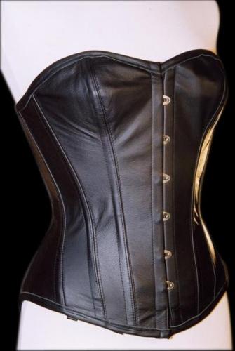 Leather Corset Black - ET-EC007-LED