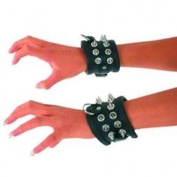 Zwarte handboeien met spikes 762 - Le-762-BLK