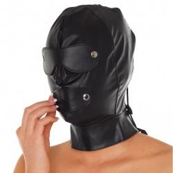 Leather Full Face & Head Mask - ri-7577