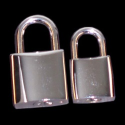 Padlocks, chrome plated - LL-ZB006/C