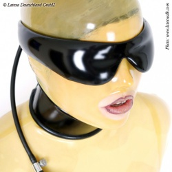 Inflatable Latex Blindfold by Latexa - la-1169