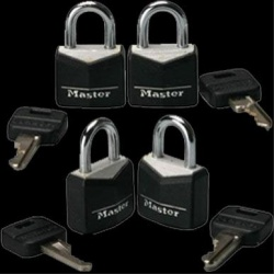 4pk Steel Masterlocks - xr-ml100
