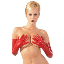 Latex Gloves Red sizes S > L - or-2900149-red
