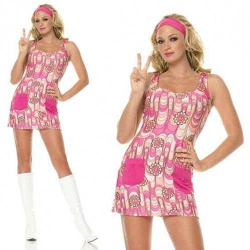 Retro Peace Daisy Kostüm XS - Leg-83328