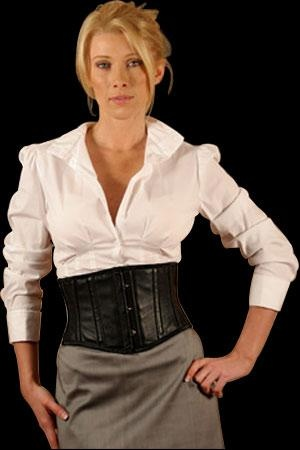 Axfords C310 Leather Underbust Corset - Ax-C310Leather