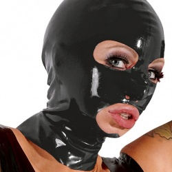 Zwart Latex masker van Late-X - or-29200501001