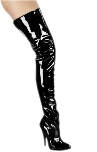 Patent Leather Boot - shoe size: 36 + 39 - HG-6212