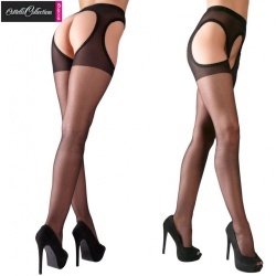Crotchless Tights black coloured - or-02314360000
