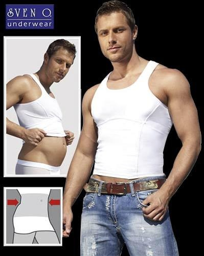 Buik-weg Muscle-Shirt maat Medium - Or-21605362700