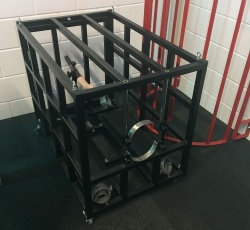 Steel Doggy-Bench Cage - dgs-pc02