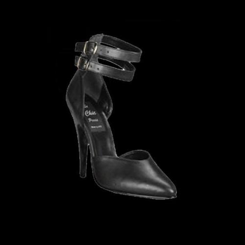 Black Pump, 3 inch heel - shoe size 39 + 40 - HG-6251R