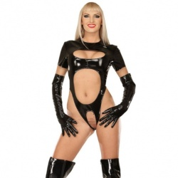 Cheeky black PVC body size UK 16 - EU 44 - le-1140-BLK-EU44
