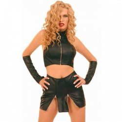 Leather Mini skirt size EU 34 - UK 6 - le-016-eu34-uk6