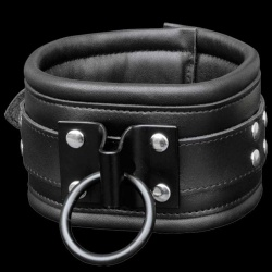 Leather Collar with welded ring - os-0112-1