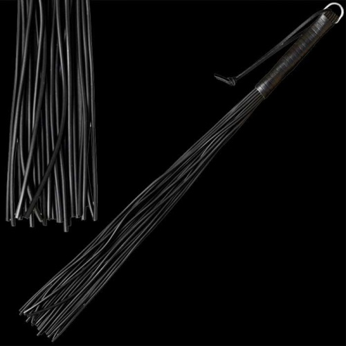 Latex whip with 24 stripes - black - os-0140-1