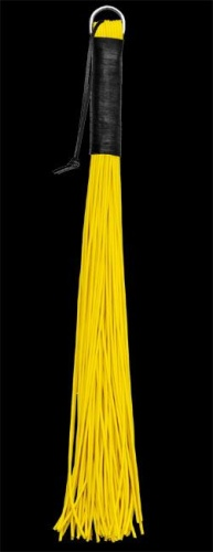 Latex whip with 72 stripes - yellow - os-0160-3g