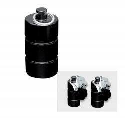 Zwart metalen gewichten met klem 2x200 gram - os-0253-3
