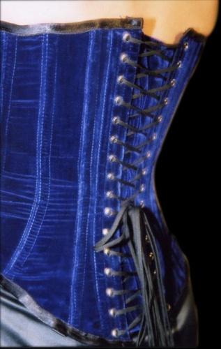 Nobles Blue Velvet Corset - ET-EC007-SA/KB
