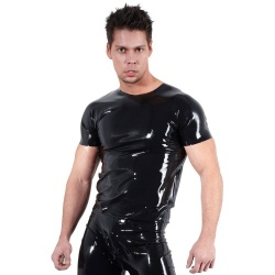Latex Unisex Shirt Große S > XXL - or-2910020